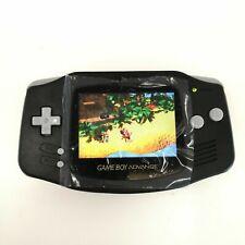 Nintendo Game Boy Advance GBA Black System Backlight Backlit IPS LCD MOD