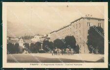 Trento città Caserma Madruzzo 18º Reggimento Fanteria Militari cartolina QT7785