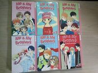 Me & My Brothers 1-6, Lot of 6 Shojo Manga, English, 13+, Hari Tokeino