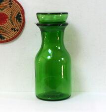 Bocal ou vase à bouchon bulle verre vert vintage 1970