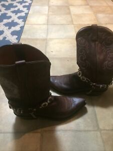 Lucchese 1883 Leather Cowboy Western Boots Shoes Sz 11.5