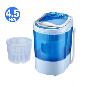 Portable Washing Machine Compact Washer Spin Spinner + Dehydration Function 10lb