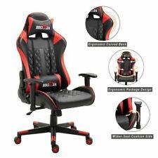 Chaise Bureau Gaming Fauteuil Gamer Racing Racer Siège avec Coussins Rouge/Noir