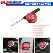 RED Start Stop Engine Button Switch Cover For BMW X1 X5 X6 3 5Series E90 E91 E92