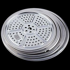New Stainless Steel Steamer Rack Steamer Tray Steaming Plate Round Home Kitchen