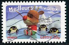 TIMBRE DE FRANCE  OBLITERE N° 3987 / AUTOADHESIF N° 98 MEILLEURS VOEUX