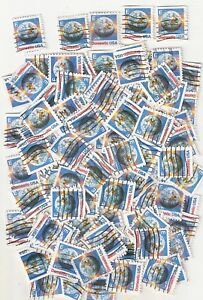 """100 EARTH """"E"""" Used 25c Non-Denominated Domestic USA Postage Stamps"""
