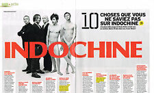 """PUBLICITE ADVERTISING 094  2009  INDOCHINE """" 10 choses que vous ne savez pas""""(2p"""