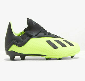 Adidas X 18.3 Firm Ground Boots Solar Yellow Youth Boys FG Soccer Cleats DB2418