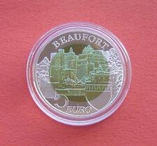 Luxembourg 2013 Castle of Beaufort 5 Euro Bi-metallic Ag+Niob Proof Coin in Card