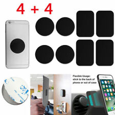 4Pack Round Square Magnetic Metal Plate Adhesive Sticker For Car Phone Holder