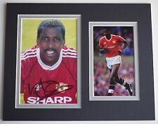 Viv Anderson Signed Autograph 10x8 photo display Manchester United Football COA