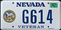 """NEVADA """" ARMY VETERAN """" NV Military Specialty Graphic License Plate"""