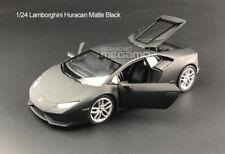 1/24 Welly FX Lamborghini Huracan Matt Black Diecast Model Free Shipping