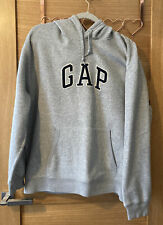 Mens Gap Size Large Light Grey Fleece Hoodie With Long Sleeves.