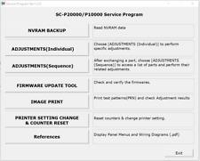Service Program for Epson SureColor  Series SC-P10000,SC-P20000