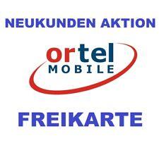 Ortel Mobile Sim Karte Neukunden Aktion !!! + 5? Gutschein
