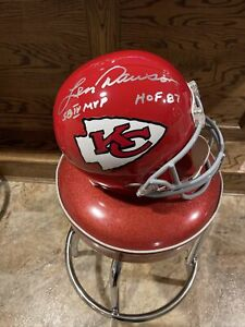 🔥LEN DAWSON SIGNED FULL SIZE HELMET CHIEFS  - PSA/DNA (sticker only)🔥