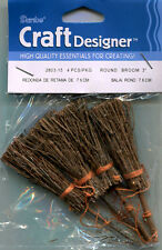 Darice Mini Witch's Broomsticks 7.5cm, pk of 4