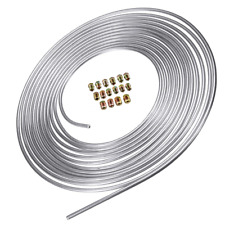 Brake Line Tube 25 Foot Coil Roll 3/16 OD Zinc Plated Steel w/16 Assort Fitting