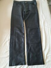 Heavy Leather Jeans With Front & BackZips by Regulation 32/33 w Gay Leather VGC