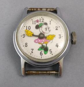 Vintage 1970 Minnie Mouse Mechanical Wristwatch Disney Watch