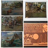 Set of 4 Vintage Color Etched Foil Lionel Barrymore  Prints