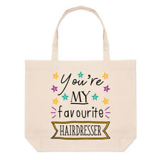 You're My Favourite Hairdresser Stars Large Beach Tote Bag - Funny Stylist