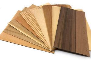 Furnier Set 9 Starkfurniere Holz Eiche Nussbaum Ahorn Modellbau Basteln Platte