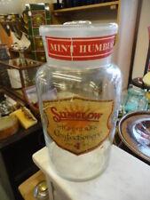 Large Vintage Sweet Jar  With Original Labels