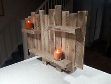 """Rustic wooden floating shelf """"  Tea light /candle holder L@@K ."""