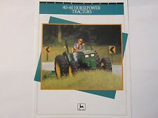 1992 John Deere 40 - 60 HP 5000 Series Tractor Dealer Brochure LOTS More Listed