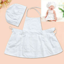 Kinder Baby Kochmütze + Schürze Fotoshooting Neugeborene Hut Kostüm Fo ZYD