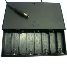 DIY 12V 8x AA Batteriehalter Fall Case Box Tasche Mit Anschlussdrähten Schalter