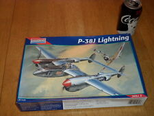WW#2, USA Lockheed P-38J Lightning Fighter Plane, Plastic Model Kit, Scale: 1/48