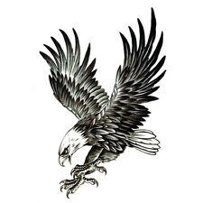 Black Eagle Temporary Tattoo Bird Fake Waterproof Transfer Sticker Art Body UK