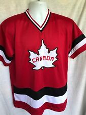 Hockey Jersey Canada Maple leaf Team Hockey Jersey Mens L RedEmbroidery