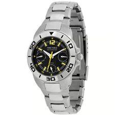 TIME FORCE TF-3088B01M RELOJ CADETE MULTIFUNCION  ACERO 50M