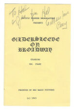 Hal Peary Signed Gildersleeve on Broadway Program 1943 / Autographed