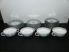 Vintage Mid-Century Wedgewood Dragon Floral Design Plate, Bowl & Cup Set Numbere