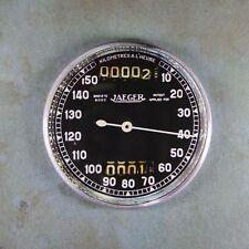 "Vintage Style Speedometer  Fridge Magnet 2 1/4""  French Jaeger Black Dial"