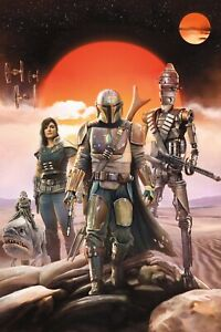"The Mandalorian Poster (11"" X 17"") Collector's Poster DISNEY STAR WARS Textless"