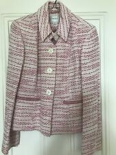Pink And Cream Tweed Style Short Jacket. Next Size 12
