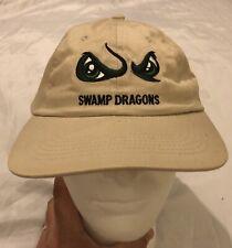 Shreveport Swamp Dragons Cap Hat Beige Eyes Minor League Baseball EUC 2001