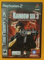 Rainbow Six 3 Tom Clancy's  PS2 Playstation 2 COMPLETE Game 1 Owner  Mint Disc
