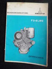 Deutz Motoren F 3-6 L 912 Betriebsanleitung