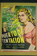 """Vinatge Mexican Movie Poster """" Puerto De Tentacion """""""