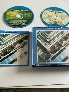 The Beatles 2 x CD Remastered 1967/1970 Original Blue Fat Box + Booklet *EXC*