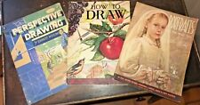 3 How to Draw Paint Art Books VTG Foster Norling Mackie Perspective Portraits