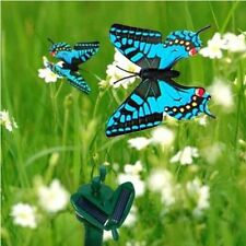 HQRP Blue Solar Powered Flying Swallowtail Butterfly for Garden Plants Flowers